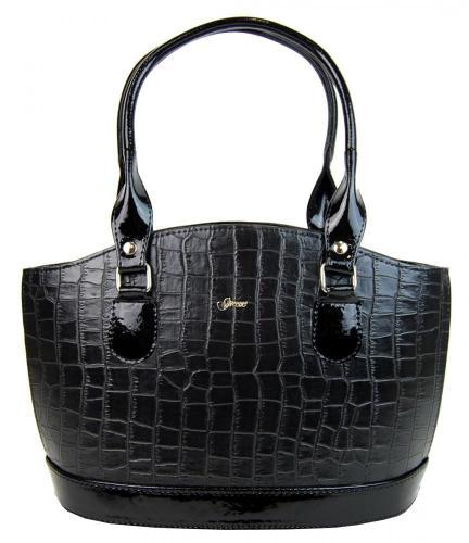 Černá originální kabelka krokodýl Brachel