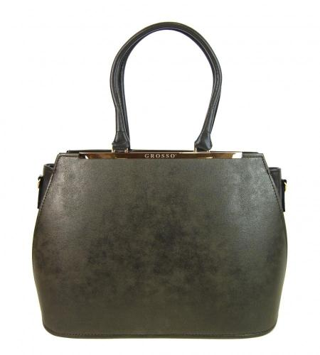 Zeleno šedá jemně metalická dámská elegantní kabelka Rommie