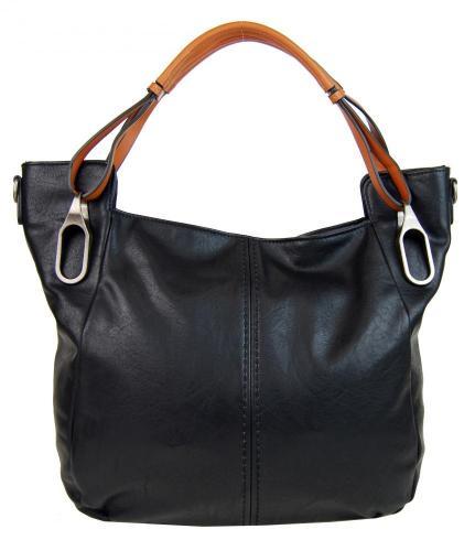 Černá dámská moderní kabelka na rameno Fulle
