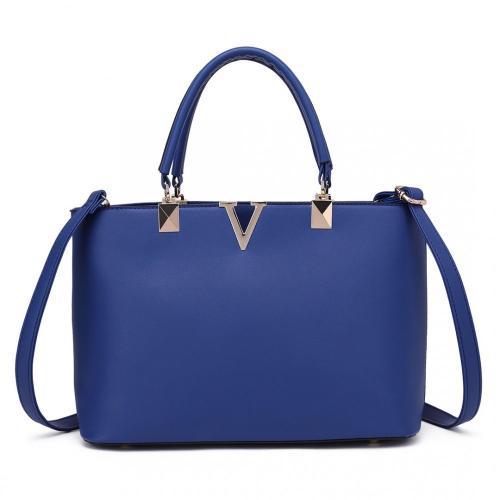Modrá dámská luxusní kabelka do ruky i přes rameno Hoffie
