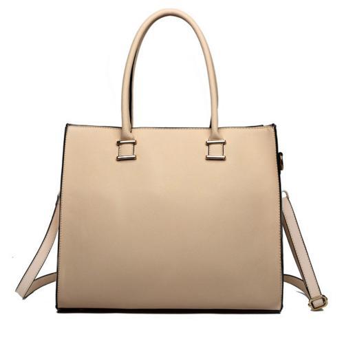 Béžová elegantní dámská kabelka do ruky i na rameno Gariel