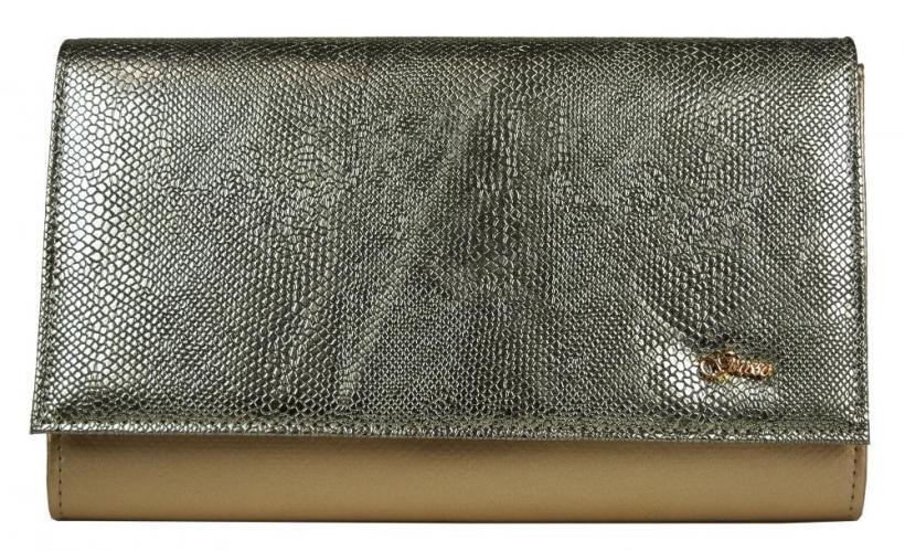 Zlatá listová kabelka Brunela