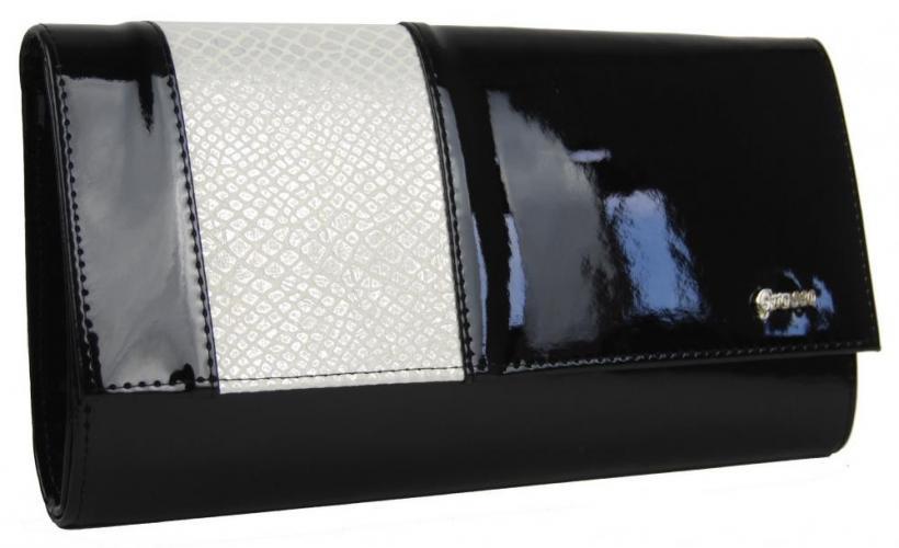 Černo béžová listová kabelka Maelly