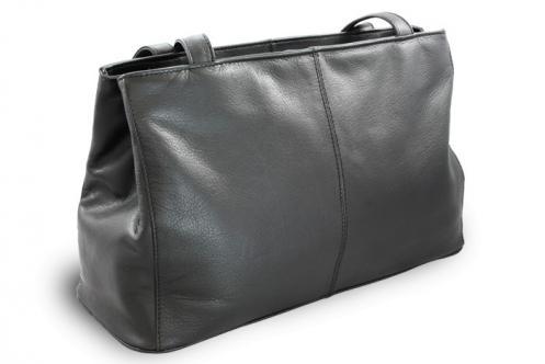 Černá dámská kožená kabelka Adelien