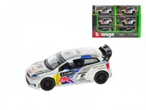 Auto Bburago kov 12cm 2014 Rally VW POLO WRC Team (S. Ogier) 1:32