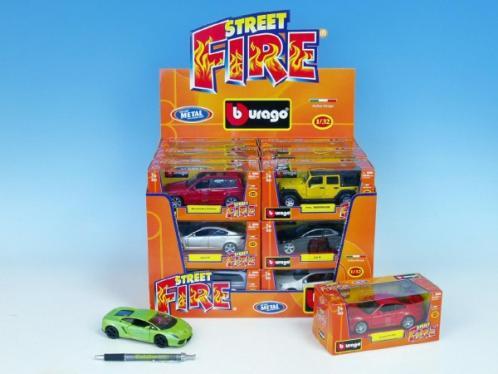 Auto Bburago Street Fire kov 1:32 asst 14 druhů