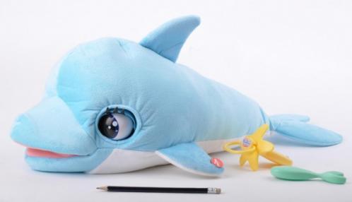 Delfín Blu Blu plyš 60cm na baterie se zvukem a doplňky