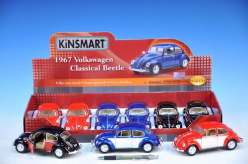 Auto Kinsmart VW Cllassical Beetle 1967 kov 17cm asst 3 barvy