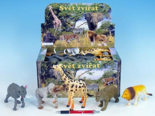 Zvířátka safari 13-20cm 8dr.