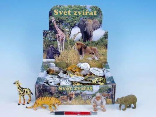Zvířátka safari 8-13 cm asst 8 druhů