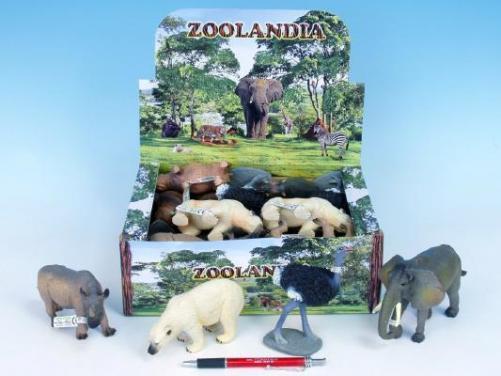 Zvířátka safari velká 10-18 cm, asst 8druhů