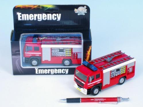 Auto hasiči kov 14cm na baterie se zvukem se světlem v krabičce