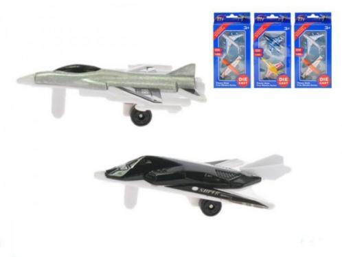 Letadlo 2ks kov 7cm volný chod asst 4 druhy