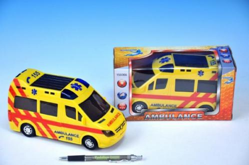 Ambulance plast 21cm narážecí na baterie se světlem a zvukem