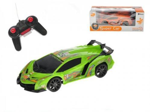 Auto RC sportovní 25cm plast 27MHz plná funkce na baterie se světlem asst 2 barvy