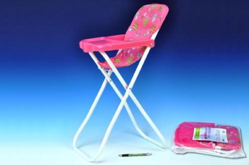 Židlička pro panenky vysoká kov/plast 33x26x60cm
