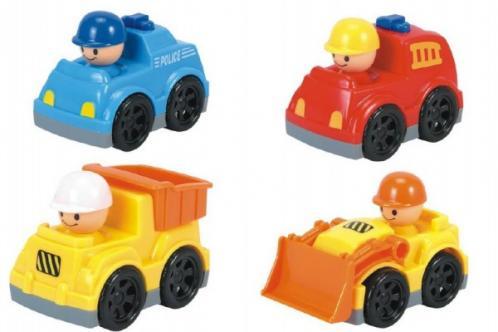Auto mini plast 9cm asst 4 druhy
