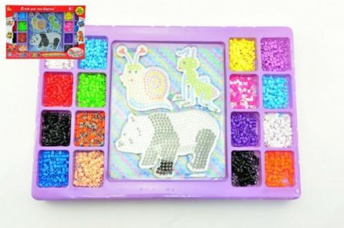 Zažehlovací mozaika 2000ks podložka 3ks plast
