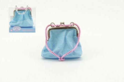 Dívčí peněženka/kabelka s třpytkami 10x9cm asst 2 barvy