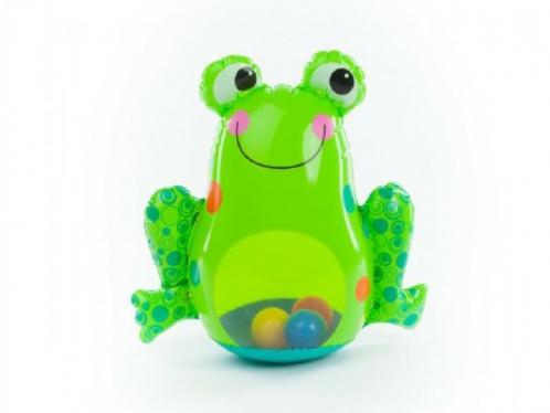 Žába nafukovací kývající se plnící vodou s míčky 46x43cm