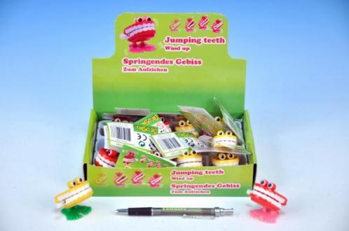 Zuby natahovací plast 4x4cm asst 2 barvy