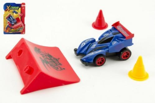 Auto formule s rampou plast 8cm na setrvačník asst 3 barvy