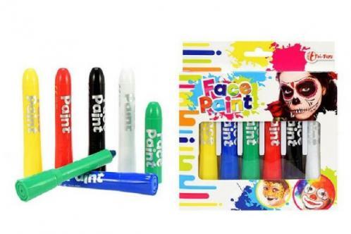 Barvy obličejové 6ks v krabičce 15x16x2cm karneval