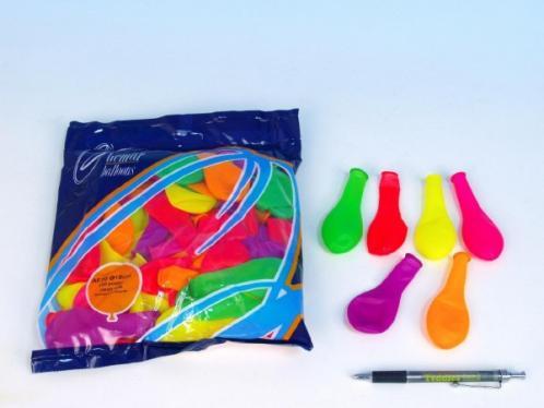 """Balonek nafukovací 7"""" párty neon 100 ks v sáčku"""