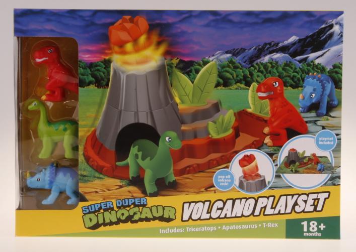 Dinosauři s hrací deskou - vybuchující sopka