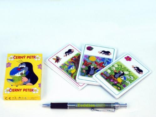 Černý Petr Krtek a sýkorka společenská hra - karty v krabičce