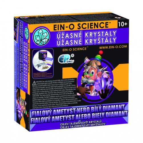 EIN-O, fialový ametyst/bílý diamant
