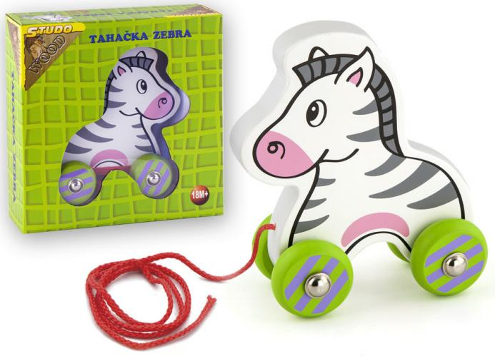 Zebra tahací dřevěná