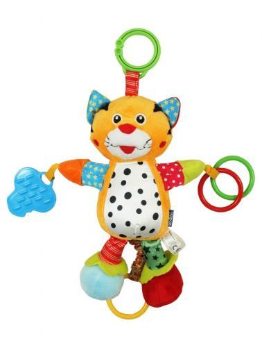 Plyšová hračka se zvukem Baby Mix Tygřík Žlutá