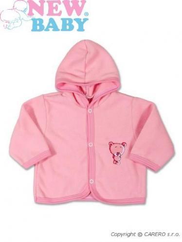Fleecový kabátek vel. 80 Sweet Teddy New Baby Růžový