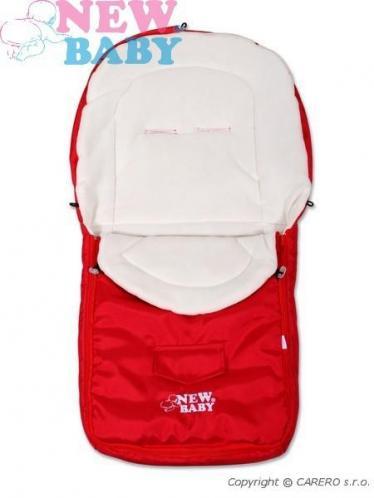 Červený zimní fusák New Baby Classic Fleece red