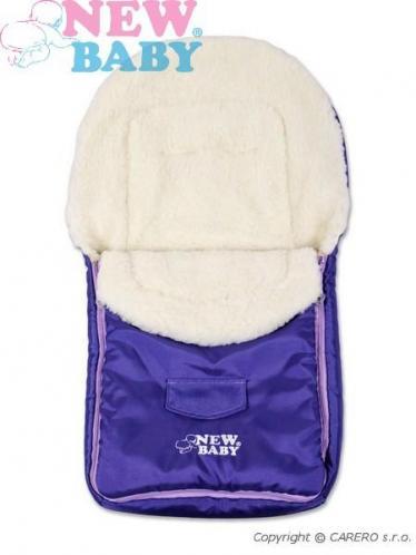 Fialový zimní fusák New Baby Classic Wool violet