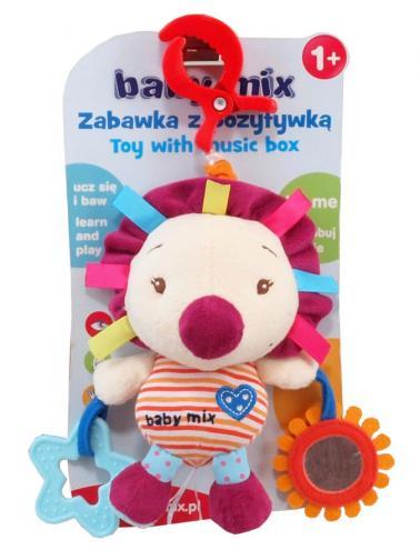Dětská plyšová hračka s hracím strojkem Baby Mix Ježek Dle obrázku