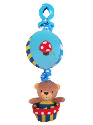 Dětská plyšová hračka se zvukem Baby Mix Medvídek modrý Modrá