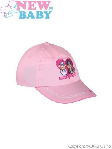 Letní dětská kšiltovka New Baby Sweet Pets světle růžová Světle růžová 110 (4-5r)