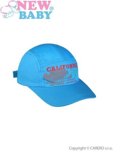 Letní dětská kšiltovka New Baby California modrá Modrá 110 (4-5r)
