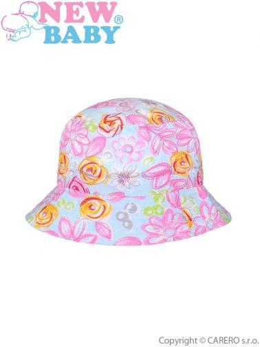Letní dětský klobouček New Baby Kytička modrý Modrá 116 (5-6 let)