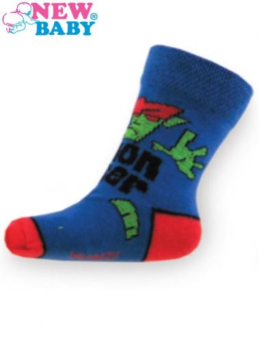 Dětské bavlněné ponožky New Baby modré monster Modrá 98 (2-3r)