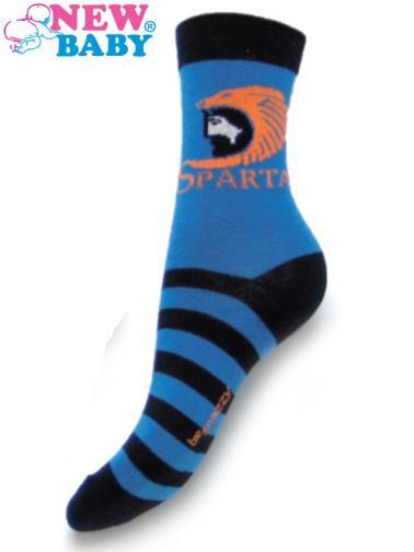 Dětské bavlněné ponožky New Baby modré sparta Modrá 104 (3-4r)