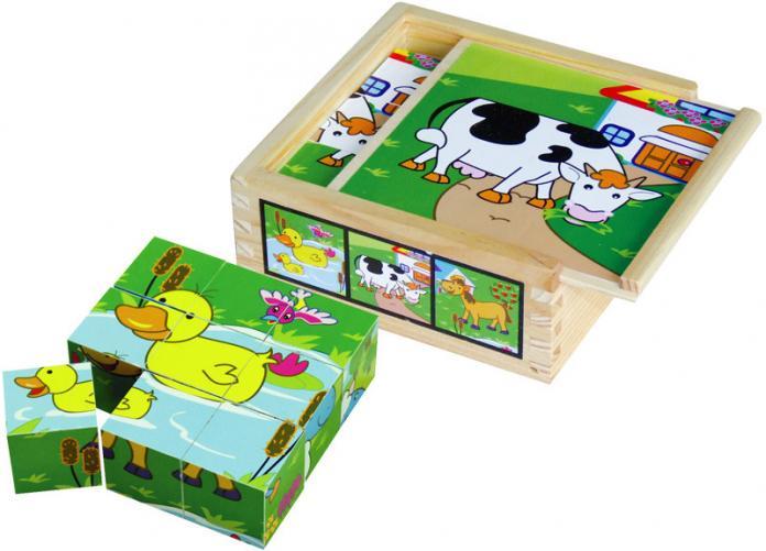 Dřevěné kostky - 9 ks