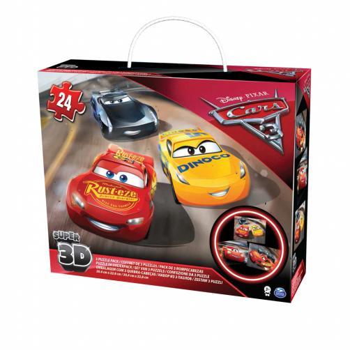 Puzzle 3D Cars 3