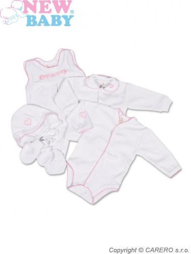 Bílá soupravička do porodnice vel. 56 New Baby Classic