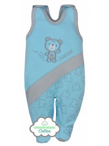 Kojenecké BIO dupačky Koala Malí Medvídci modré Modrá 56 (0-3m)
