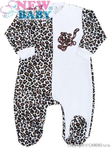 Kojenecký overálek New Baby Leopardík hnědý Hnědá 80 (9-12m)
