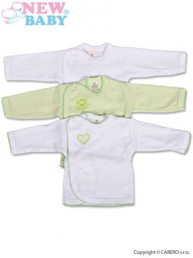 Kojenecká košilka vel. 68 New Baby Classic 3ks Zelená