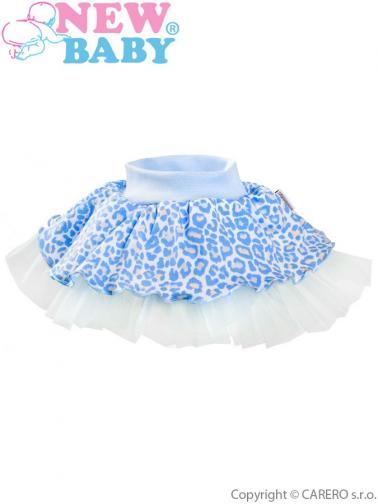 Kojenecká suknička s tylovou spodničkou New Baby Leopardík modrá Modrá 80 (9-12m)